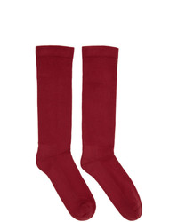 Rick Owens DRKSHDW Red Subhuman Socks