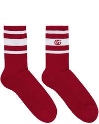 Gucci Red White Logo Running Socks
