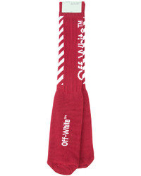 Off-White Ribbed Socks