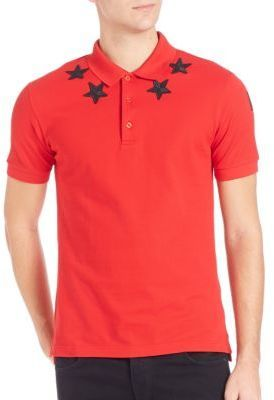0c517f59 Givenchy Cuban Fit Star Polo, $535 | Saks Fifth Avenue | Lookastic.com