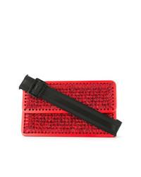 Red Straw Crossbody Bag