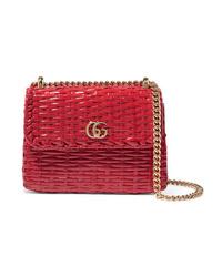 Gucci Mini  Wicker Shoulder Bag