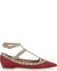 Rockstud leather ballerina flats medium 6870453