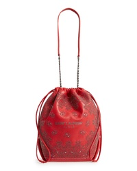 Saint Laurent Teddy Bandana Studded Leather Bucket Bag