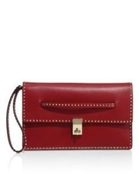 Valentino studded leather clutch medium 3763315