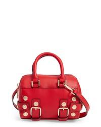 Topshop Bianca Studded Faux Leather Bowler Bag