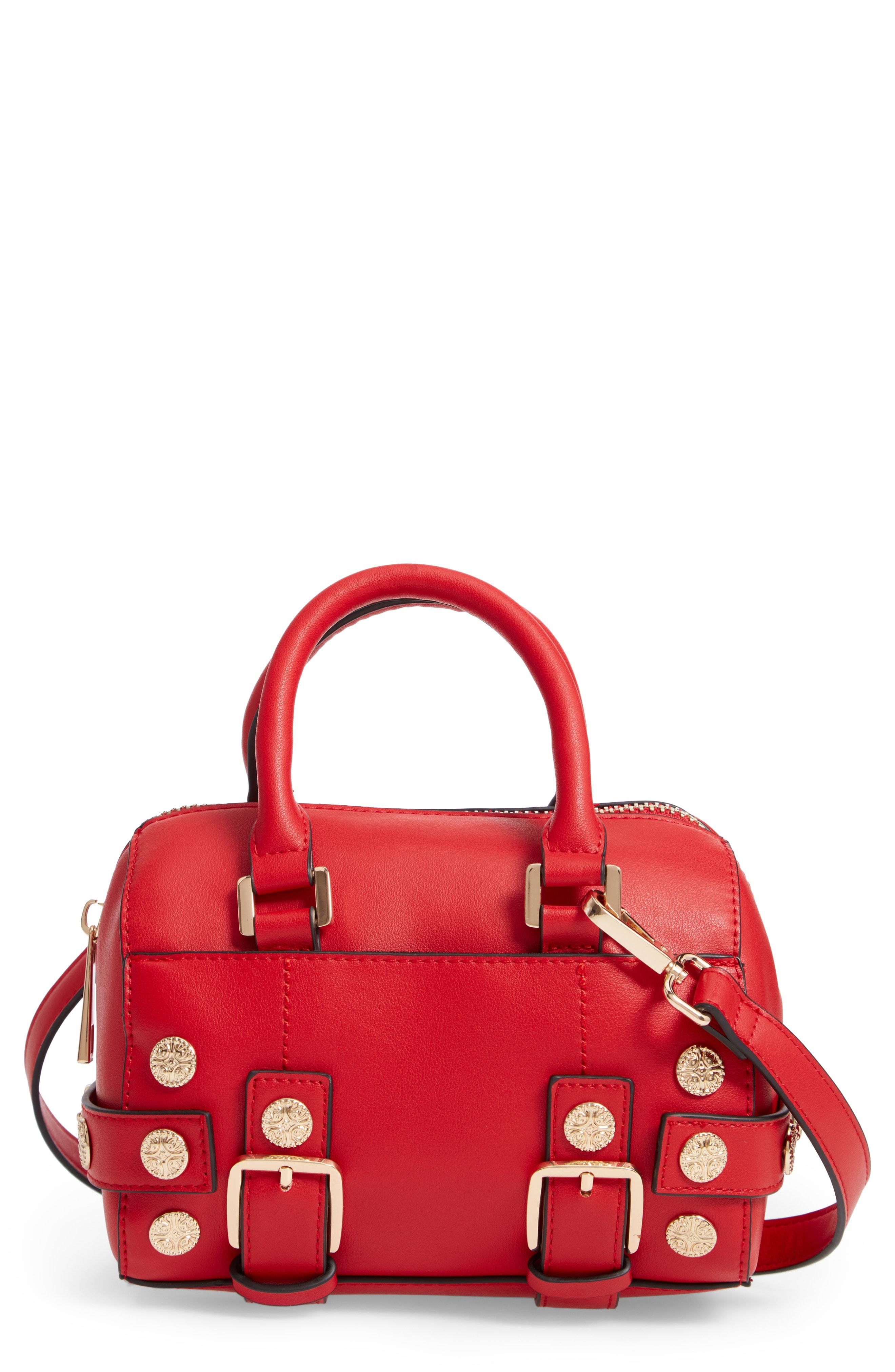 Topshop Bianca Studded Faux Leather Bowler Bag a845d41e5f4b7