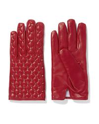 Valentino Garavani The Rockstud Leather Gloves