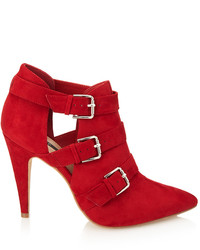 Forever 21 Buckled Faux Suede Booties