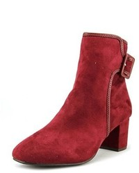 White Mountain Callaway Round Toe Suede Ankle Boot