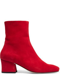 Dorateymur Sybil Suede Ankle Boots Red