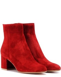 Gianvito Rossi Margaux Mid Suede Ankle Boots