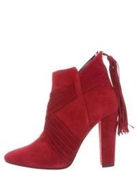 Oscar de la Renta Haris Suede Ankle Boots