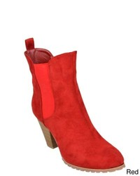 Journee Collection Blackred Pescara Sueded High Heel Boots