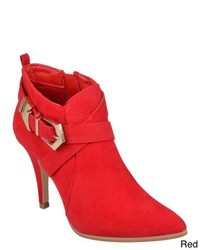 Journee Collection Reina Sueded High Heel Bootie