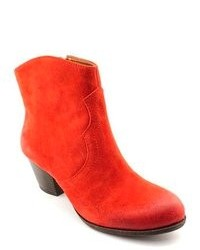 Lucky Brand Tablita Red Suede Fashion Ankle Boots Uk 5