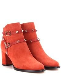 Valentino Garavani Rockstud Suede Ankle Boots