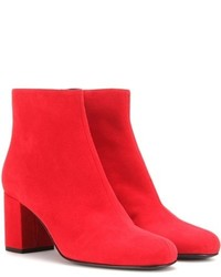 Saint Laurent Babies 70 Suede Ankle Boots