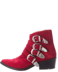 Toga Suede Ankle Boots