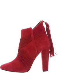 Oscar de la Renta Haris Suede Ankle Boots W Tags