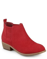 Journee Collection Ramsey Faux Suede Stacked Heel Booties