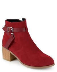 Journee Collection Mara Round Toe Two Tone Booties