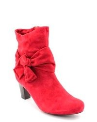VANELi Janubi Red Wide Suede Fashion Ankle Boots