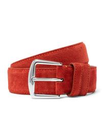 Loro Piana 35cm Red Suede Belt