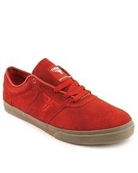 Fallen Victory Red Suede Skate Shoes Eu 45