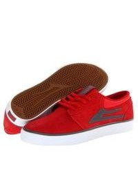 Lakai Griffin Skate Shoes Redgrey Suede