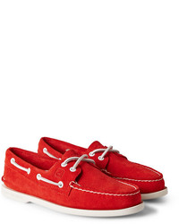 Sperry Top Sider Authentic Original Two Eye Suede Boat Shoes