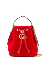 Gucci Gg Marmont Quilted Bucket Bag