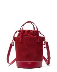 Frances Valentine Large Leather Suede Bucket Bag