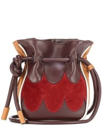 Marni Leather And Suede Bucket Bag