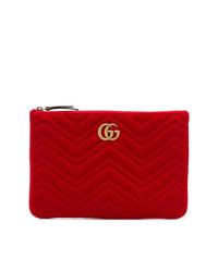 Gucci Gg Marmont 20 Matelass Velvet Clutch
