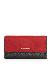 Mango contrast suede wallet medium 155421