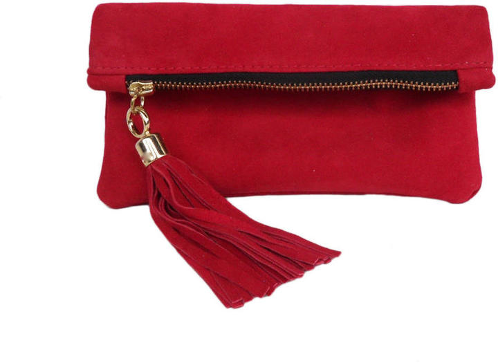 Miller and Jeeves Mini Suede Clutch Red Suede   Where to buy   how ... 877b52c9062
