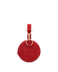 Tara Zadeh Red Azar Suede Bracelet Bag