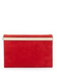 Charlotte Olympia Vanity Suede Mirror Clutch
