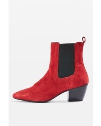 Topshop Bounty Suede Western Boots