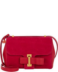 Red Suede Crossbody Bag