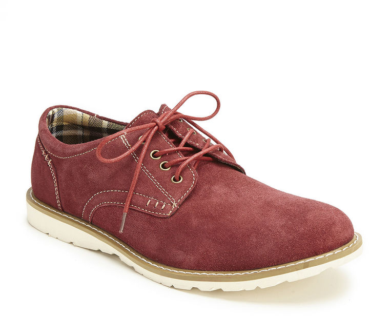 bb6c1f74903 ... Red Suede Derby Shoes Muk Luks Kent Lace Up Shoes