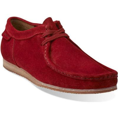 Clarks Wallabee Run Red Suede Boots