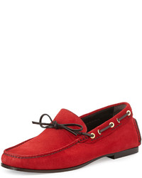 Tom Ford Crawford Suede Driving Loafer Red