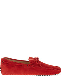 Tod's Tods Tie Suede Driving Shoes
