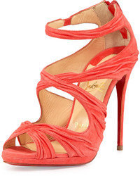Kashou suede red sole sandal medium 144933