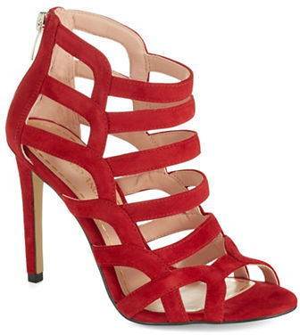 2c78e96a242 $110, Enzo Angiolini Suede Cage Heels