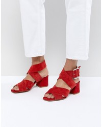 ASOS DESIGN Tosh Suede Crossover Sandals