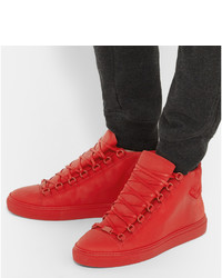 2a283705e92a ... Balenciaga Suede And Leather High Top Sneakers
