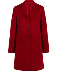 The Row Nisa Suede Jacket Red